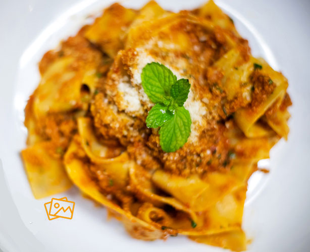 Zuppa's pappardelle pasta dish with veal bolognese sauce