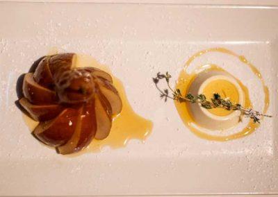 Zuppa Restaurant's Prosecco Poached Pear Dessert